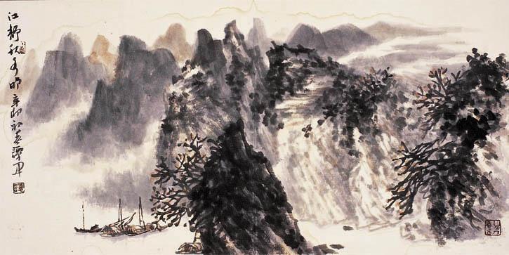 谭开国画欣赏--中国书画收藏图片